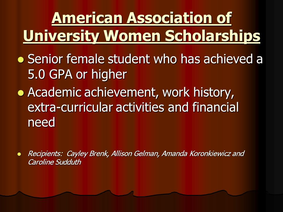 American Association of University Women Scholarships