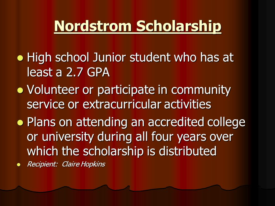 Nordstrom Scholarship
