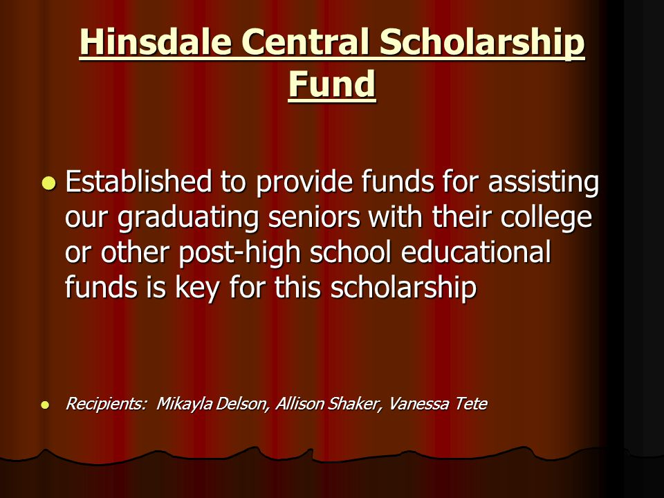Hinsdale Central Scholarship Fund