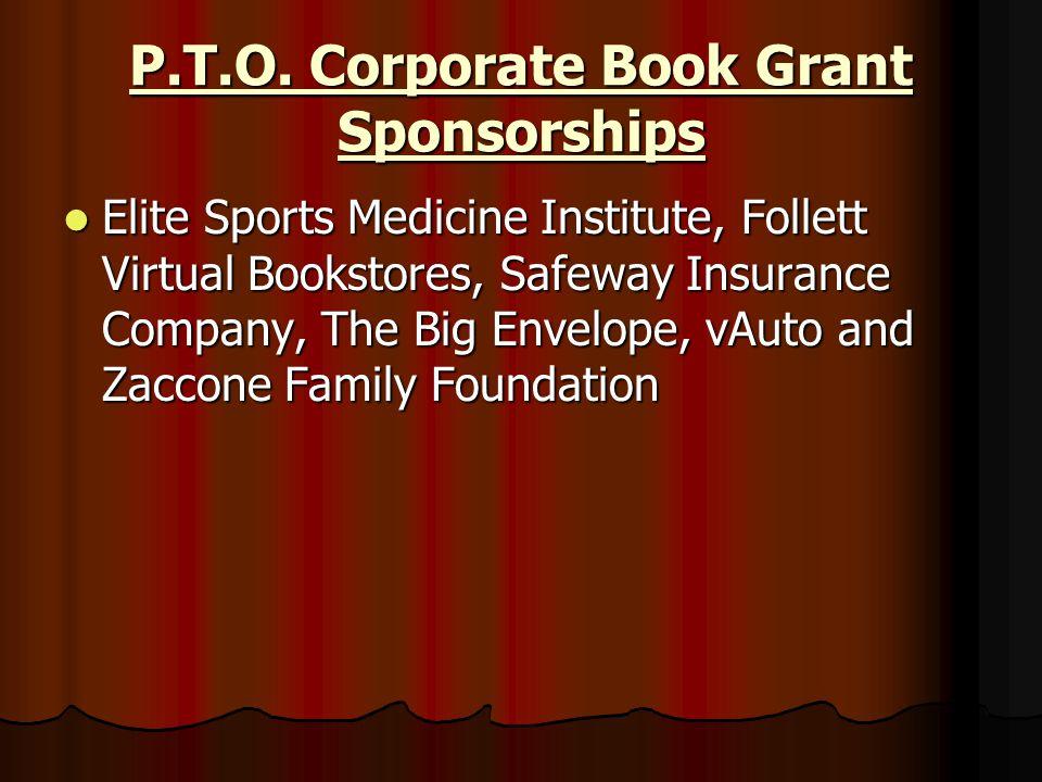 P.T.O. Corporate Book Grant Sponsorships