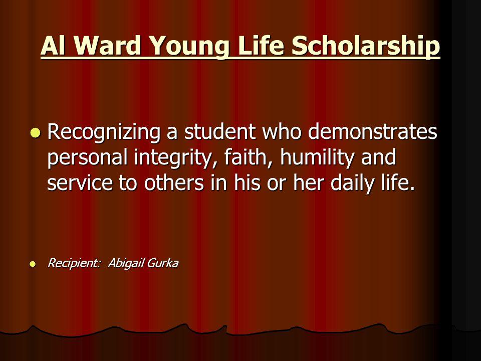 Al Ward Young Life Scholarship
