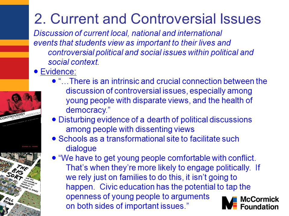 2. Current and Controversial Issues