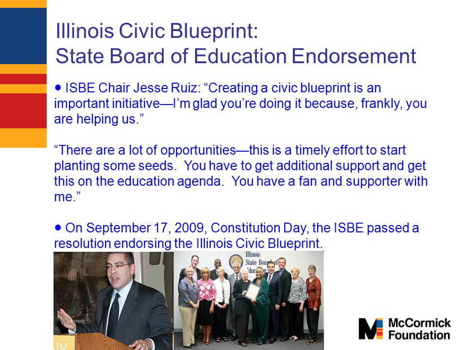 Illinois Civic Blueprint: State Board of Education Endorsement