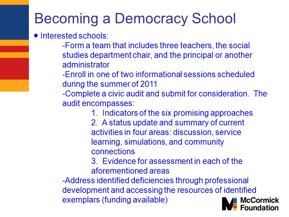 Becoming a Democracy School