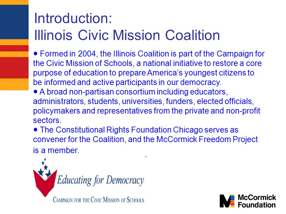 Introduction: Illinois Civic Mission Coalition