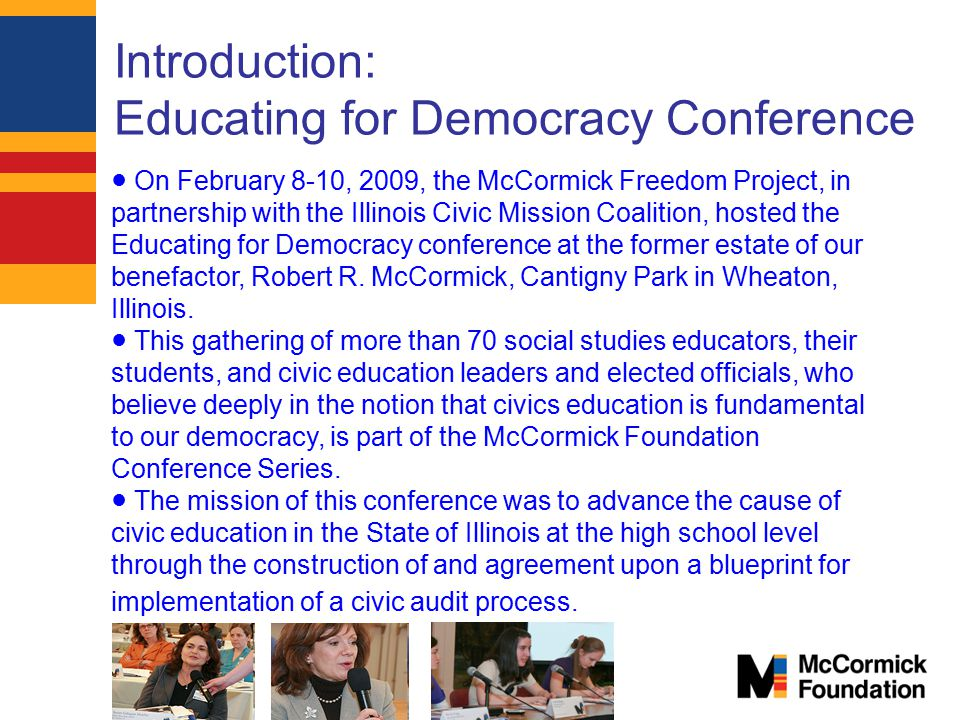 Introduction: Educating for Democracy Conference