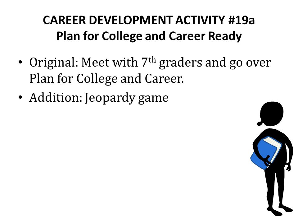 CAREER DEVELOPMENT ACTIVITY #19a Plan for College and Career Ready