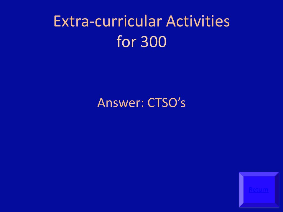 Extra-curricular Activities for 300