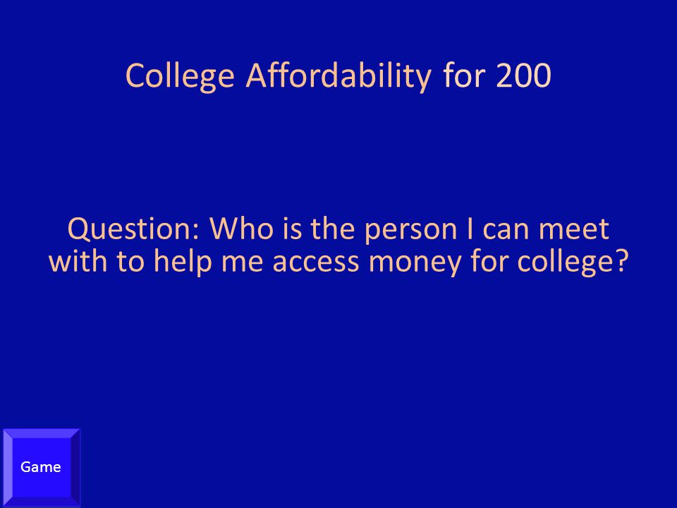 College Affordability for 200