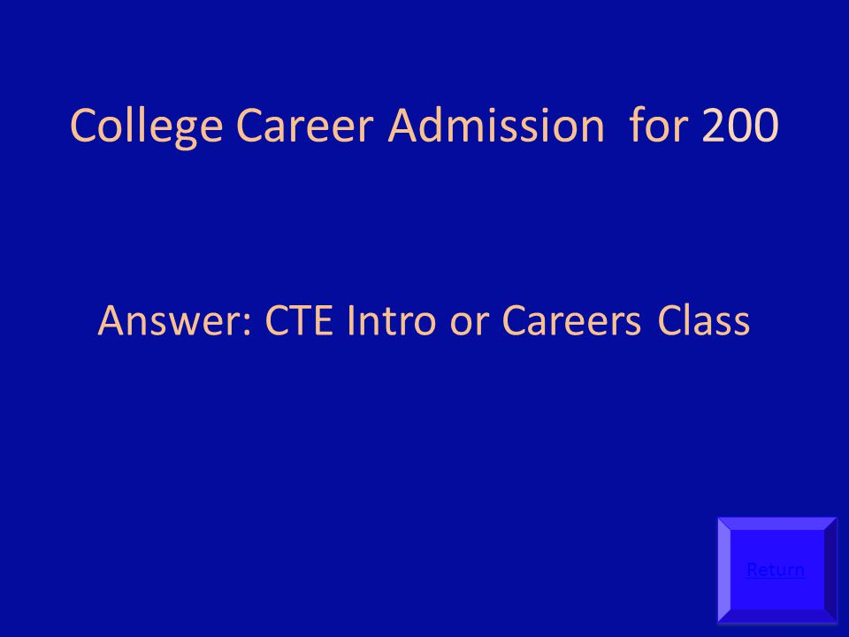 College Career Admission for 200