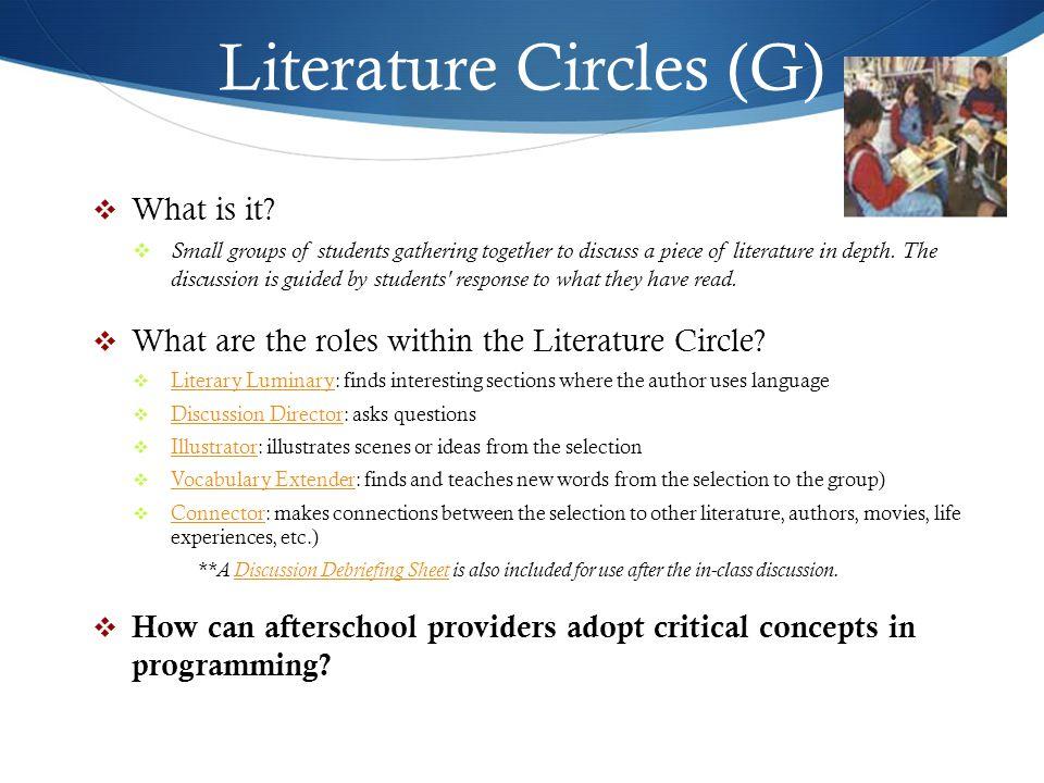 Literature Circles (G)
