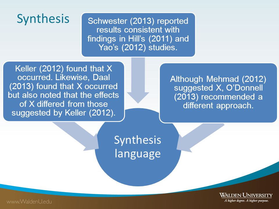 Synthesis Synthesis language