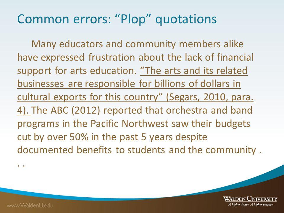 Common errors: Plop quotations