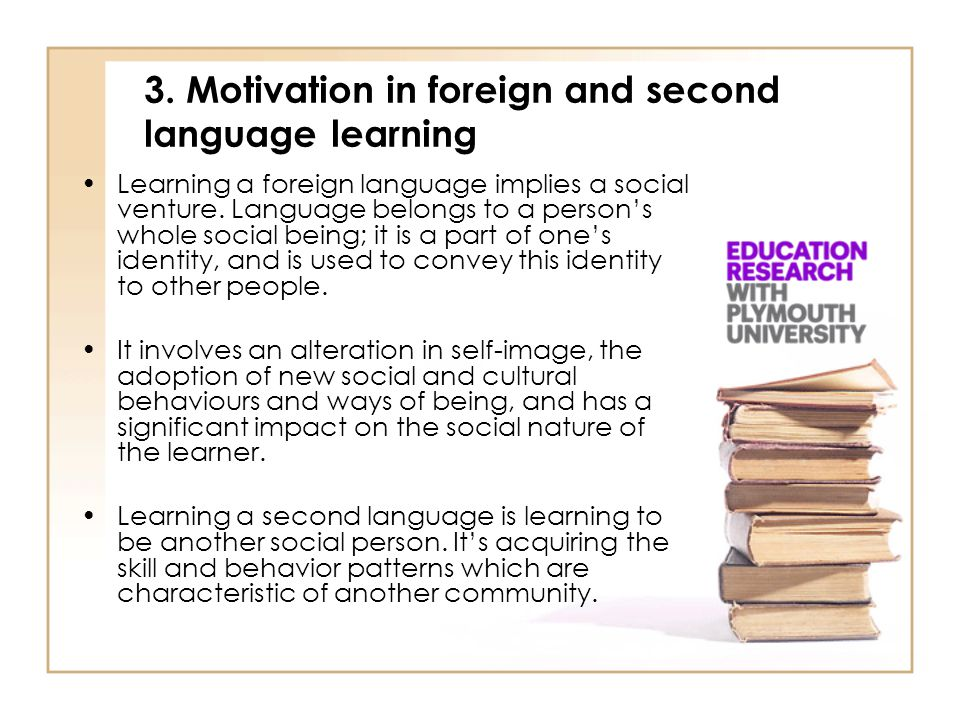 3. Motivation in foreign and second language learning