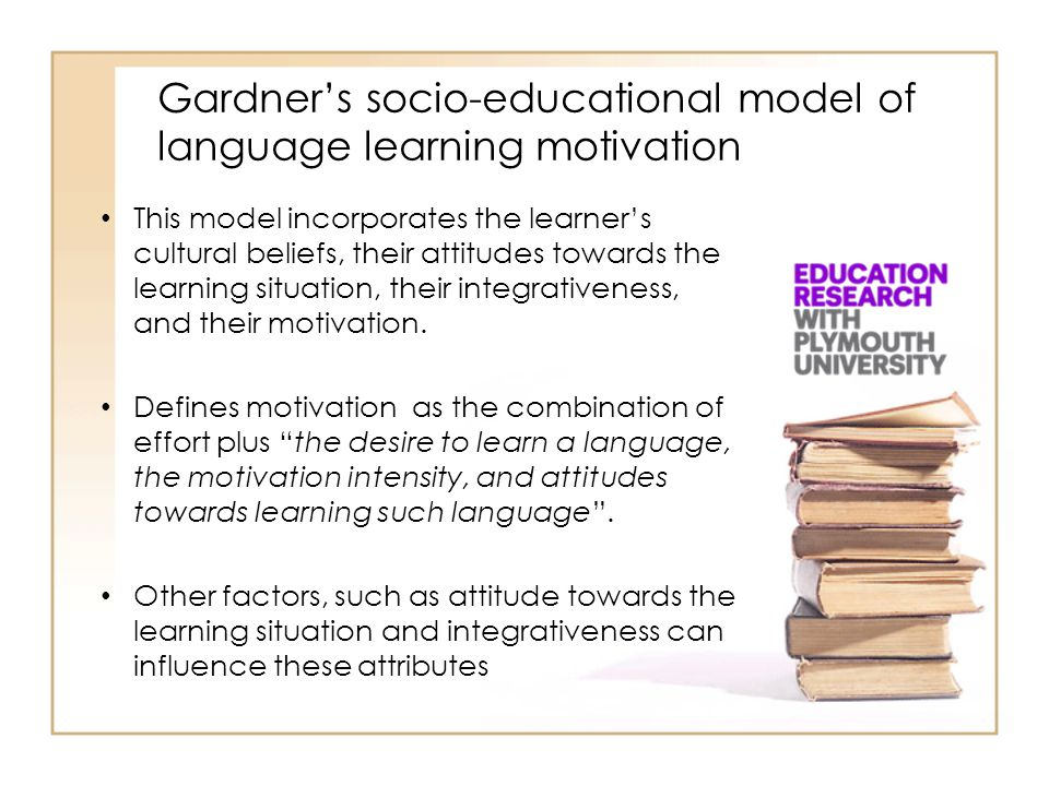 Gardner's socio-educational model of language learning motivation