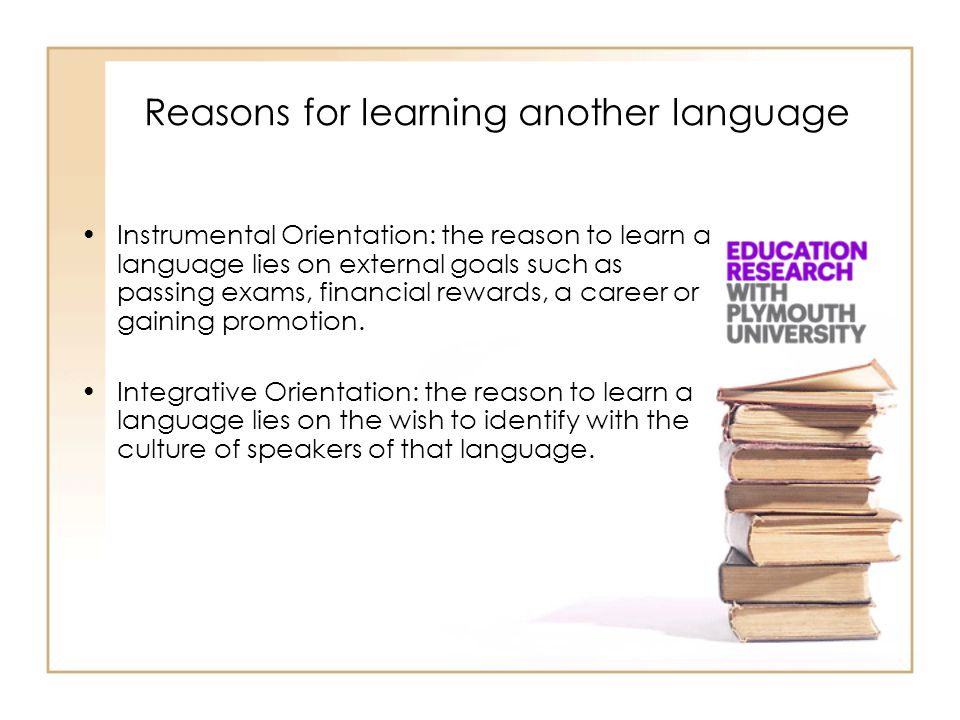 Reasons for learning another language