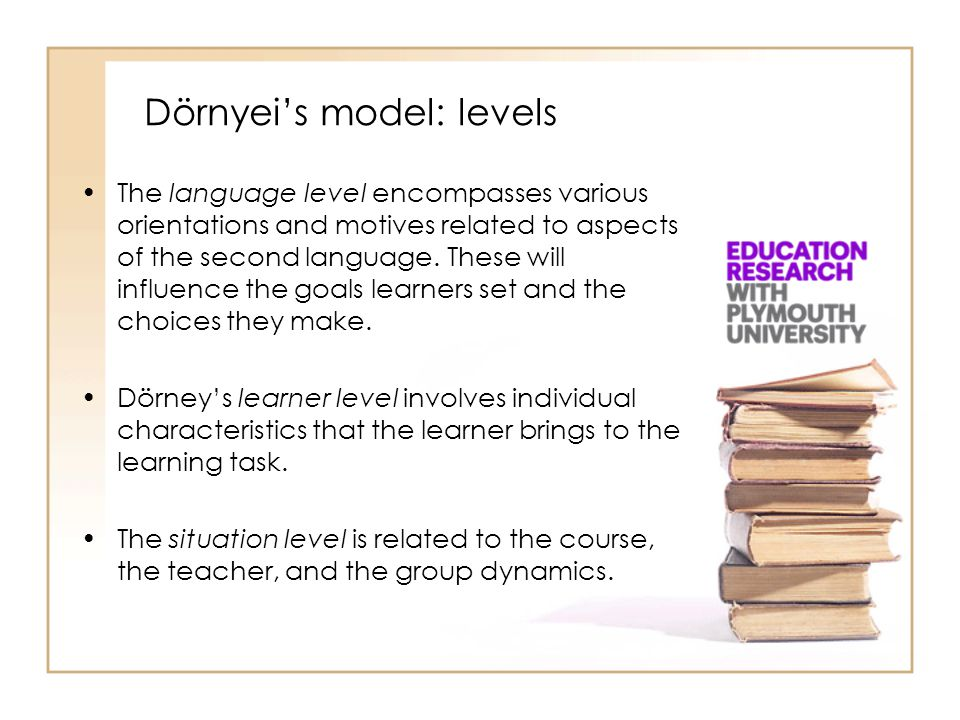 Dörnyei's model: levels