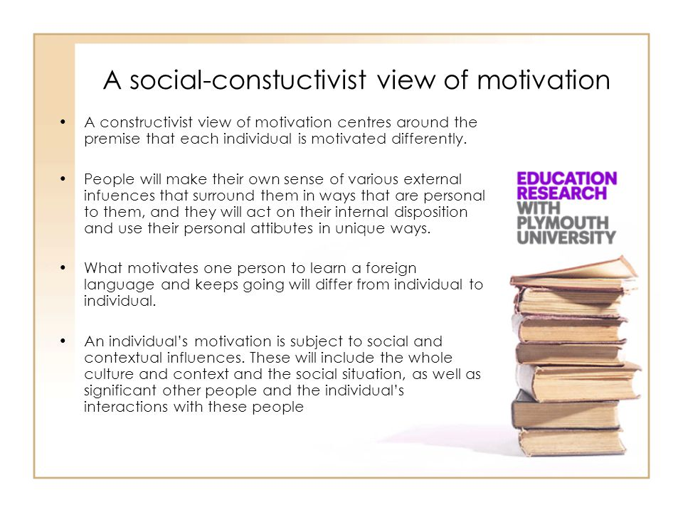 A social-constuctivist view of motivation