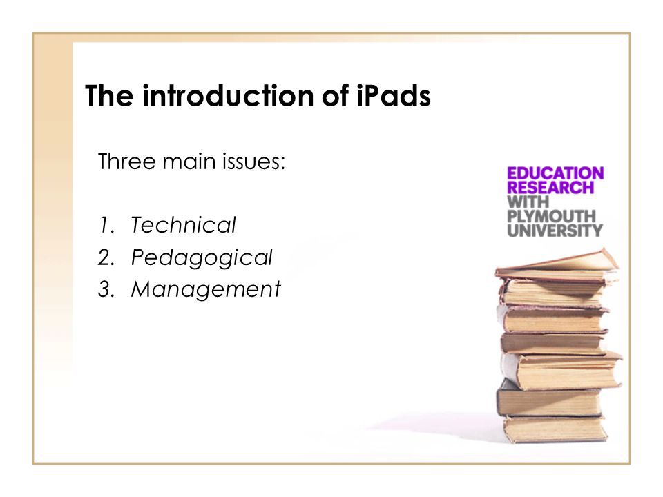 The introduction of iPads