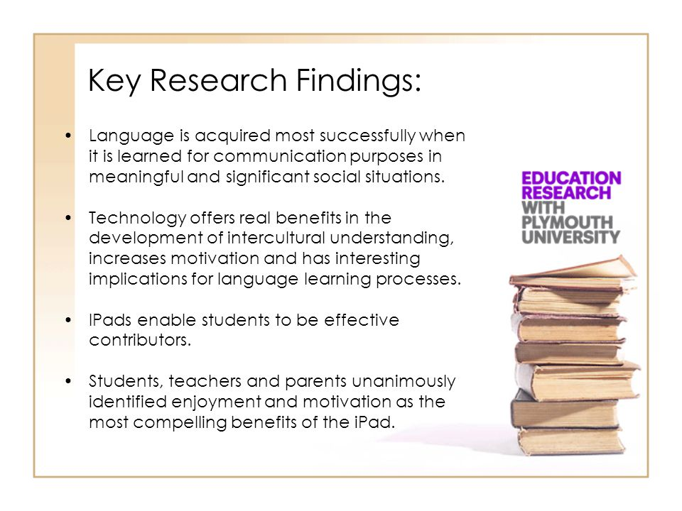 Key Research Findings: