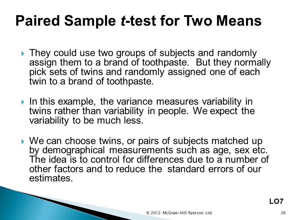 Exercise 31 t- Test for Dependent Groups