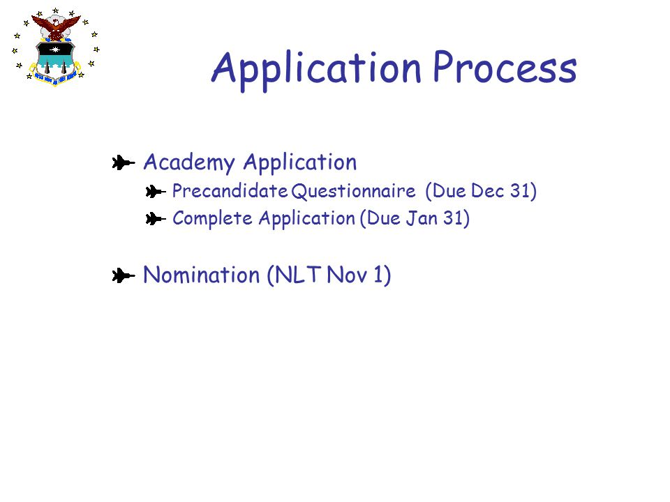 Application Process Academy Application Nomination (NLT Nov 1)