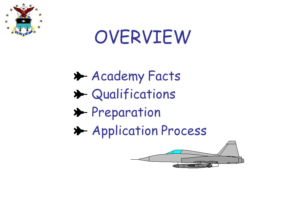 OVERVIEW Academy Facts Qualifications Preparation Application Process