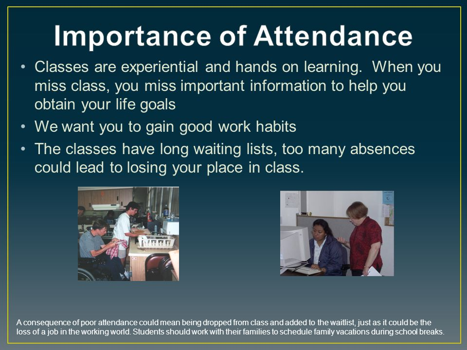 Importance of Attendance