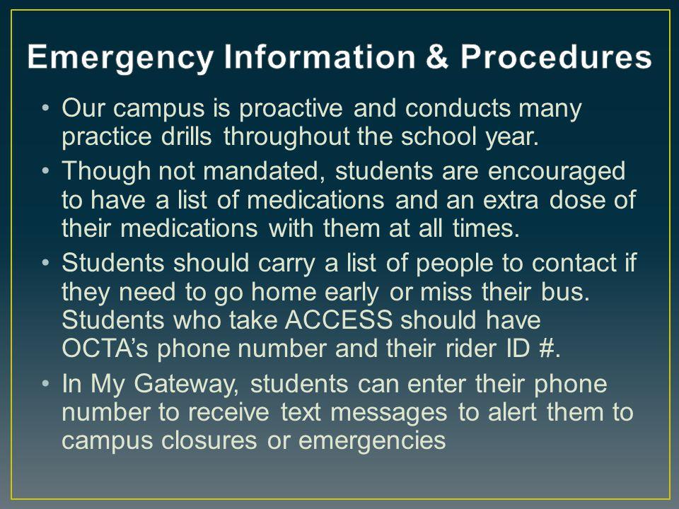 Emergency Information & Procedures