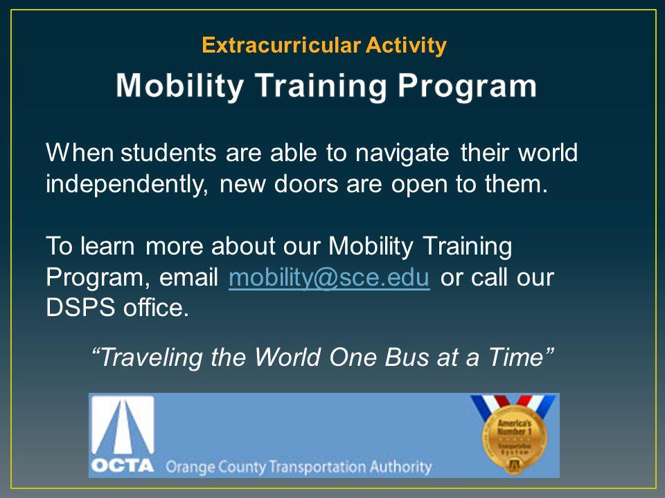 Mobility Training Program