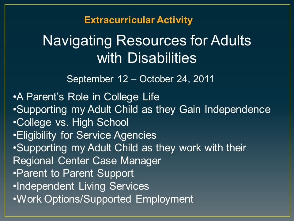 Navigating Resources for Adults with Disabilities