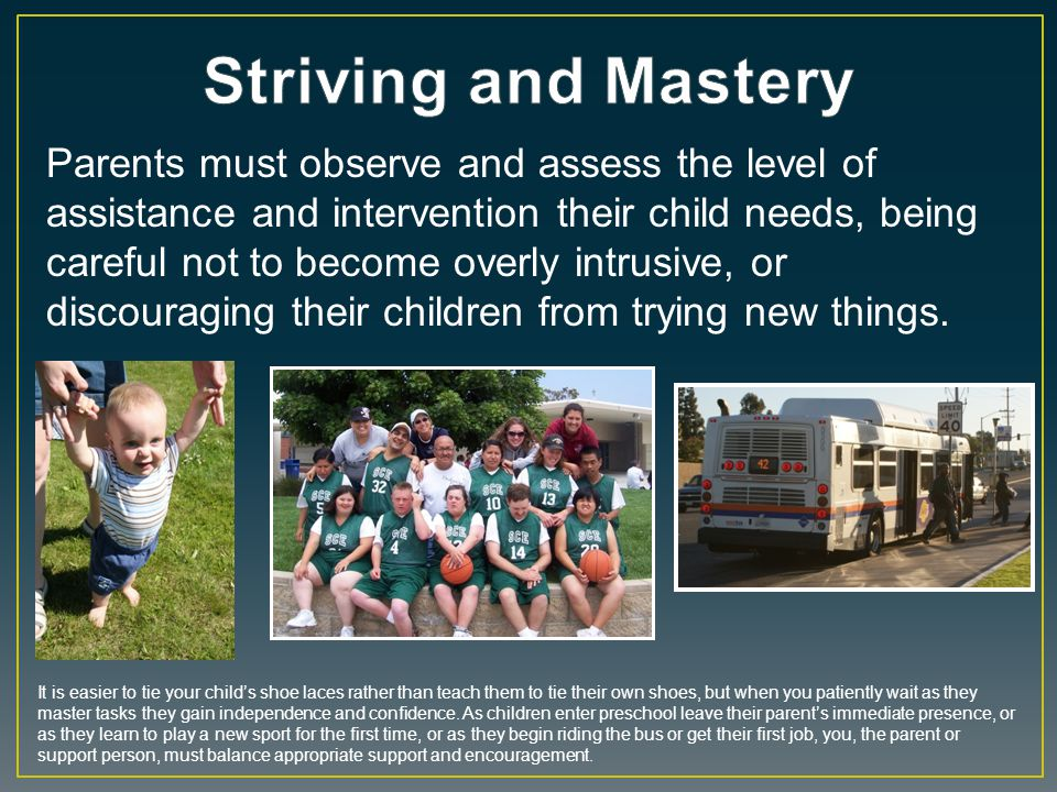 Striving and Mastery