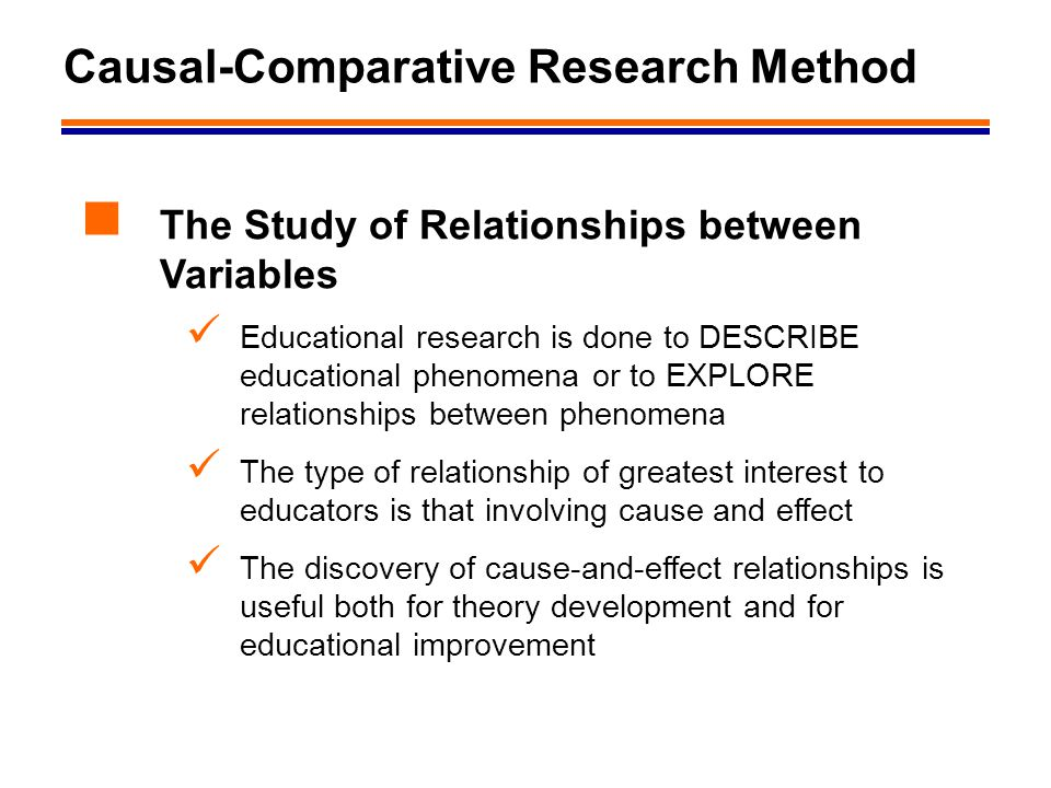 research causal research Causal research, as the name specifies, tried to determine the cause underlying a given behaviour it finds the cause and effect relationship between variables it seeks to determine how the dependent variable changes with.