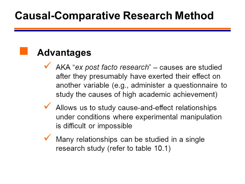 Causal-Comparative Research Method