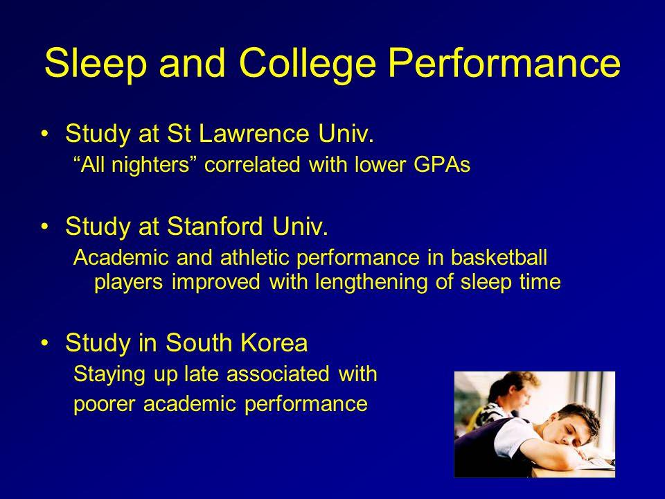 Sleep and College Performance