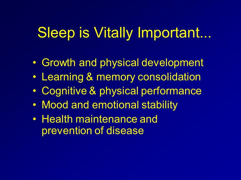 Sleep is Vitally Important...