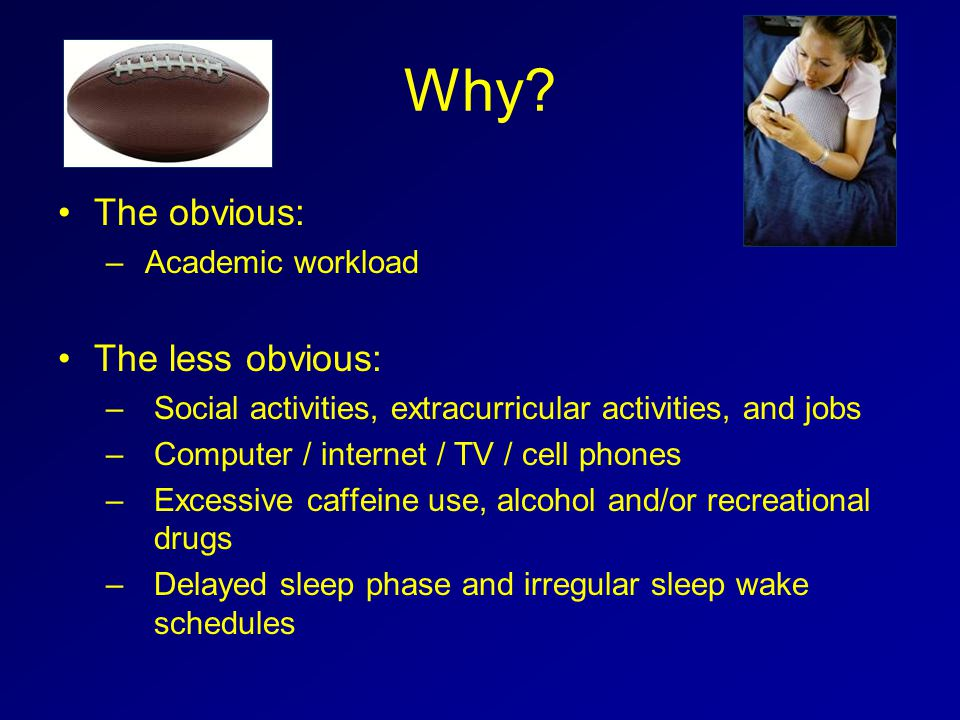 Why The obvious: The less obvious: Academic workload