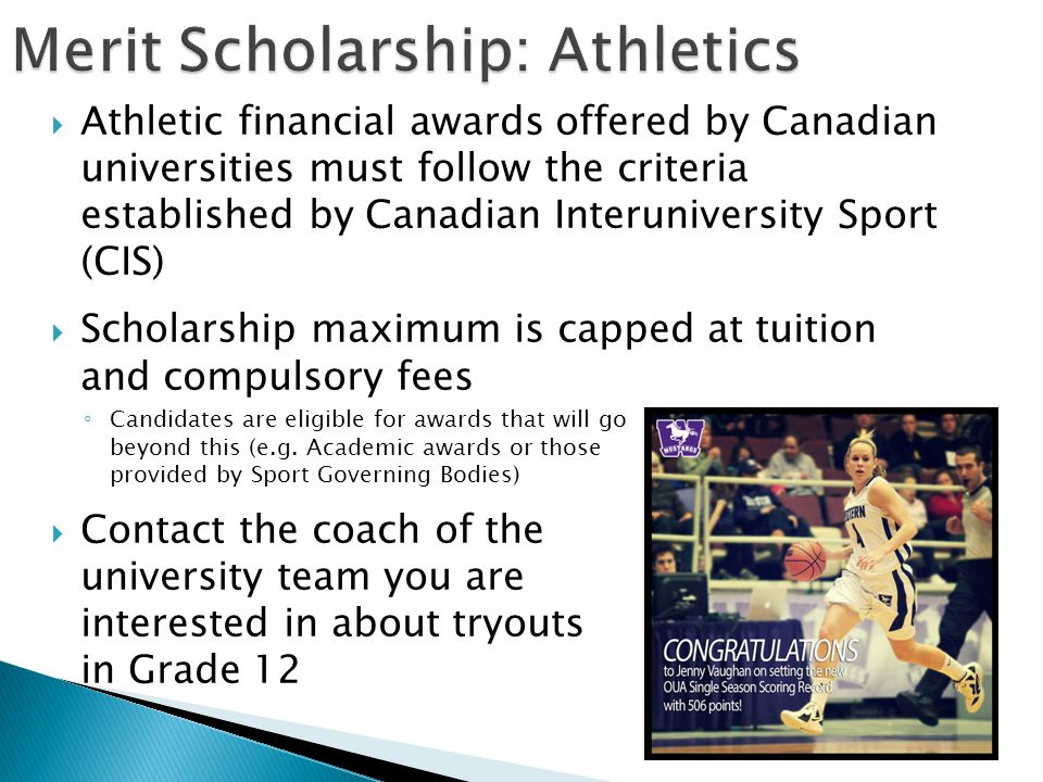 Merit Scholarship: Athletics