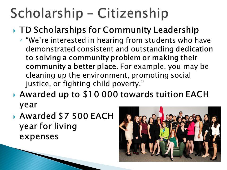 Scholarship – Citizenship