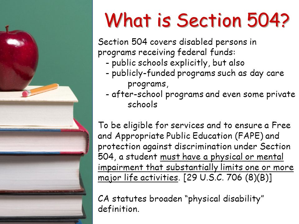 What is Section 504