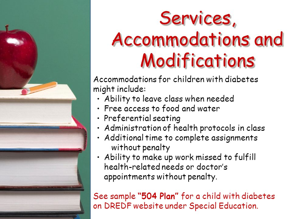 Services, Accommodations and Modifications