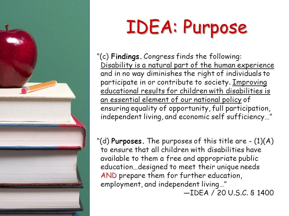 IDEA: Purpose