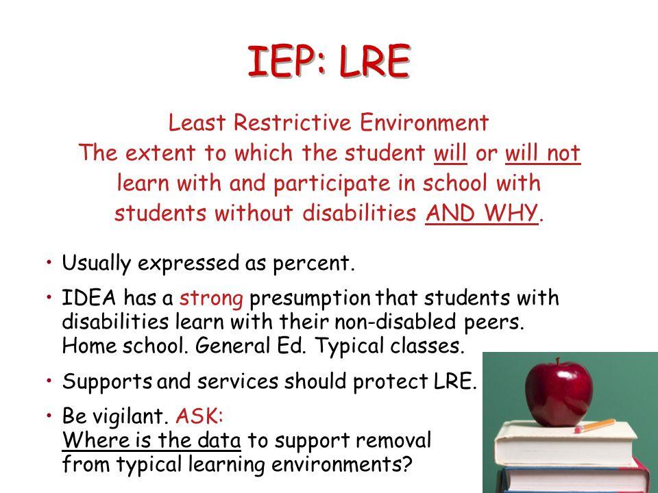 IEP: LRE