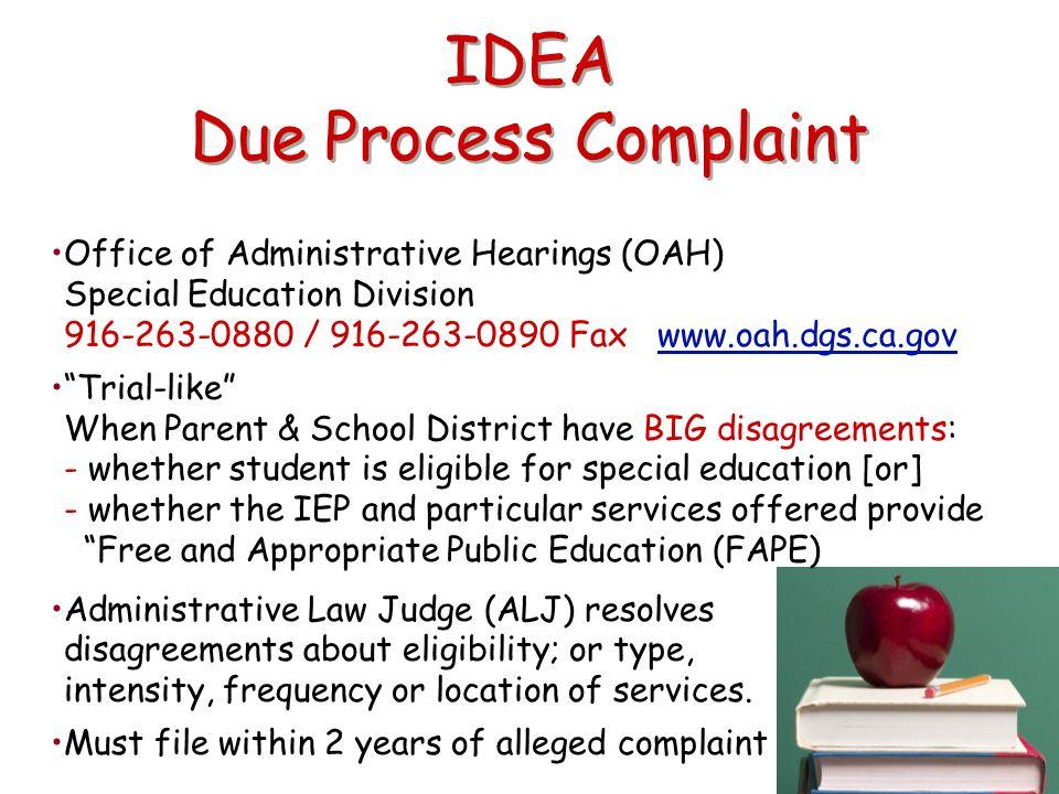 IDEA Due Process Complaint