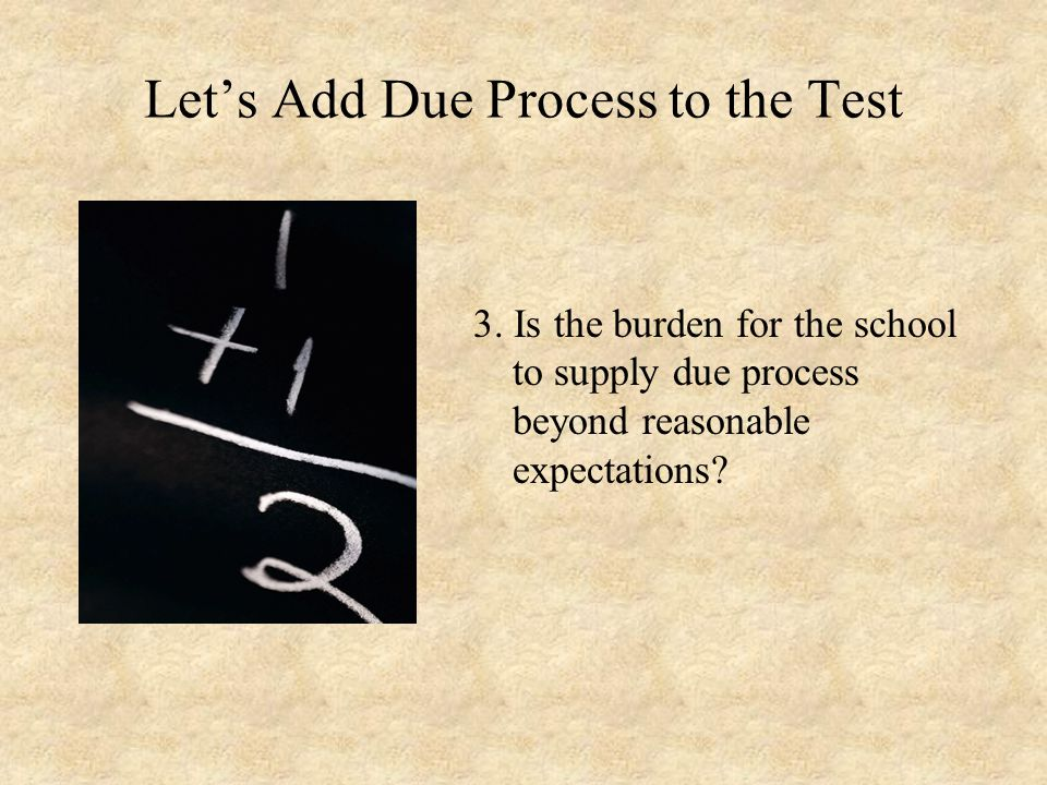 Let's Add Due Process to the Test