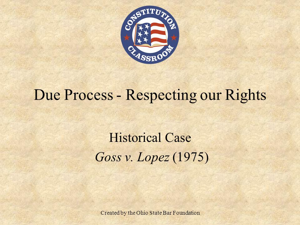 Due Process - Respecting our Rights