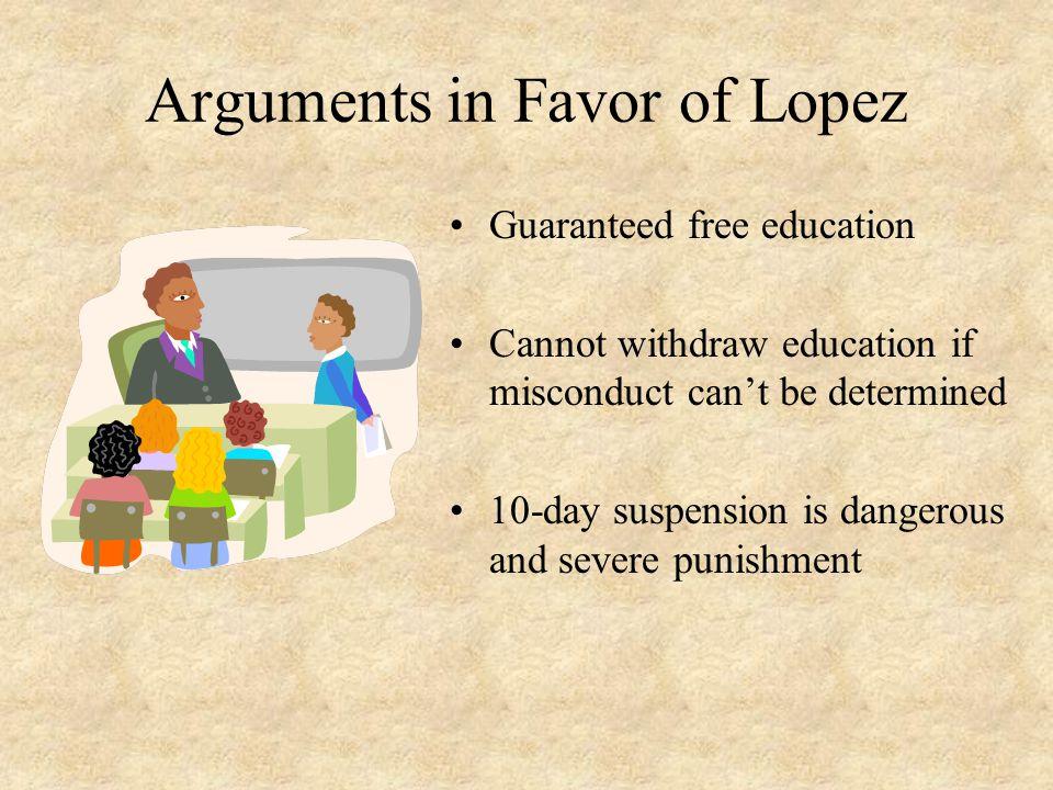 Arguments in Favor of Lopez
