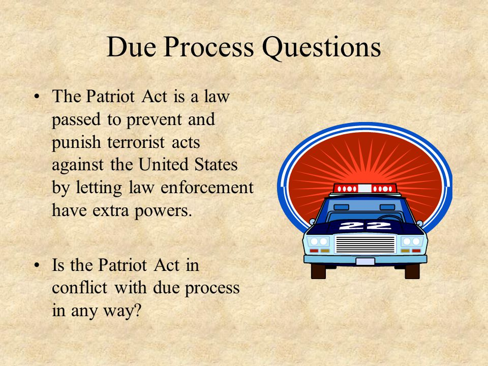 Due Process Questions