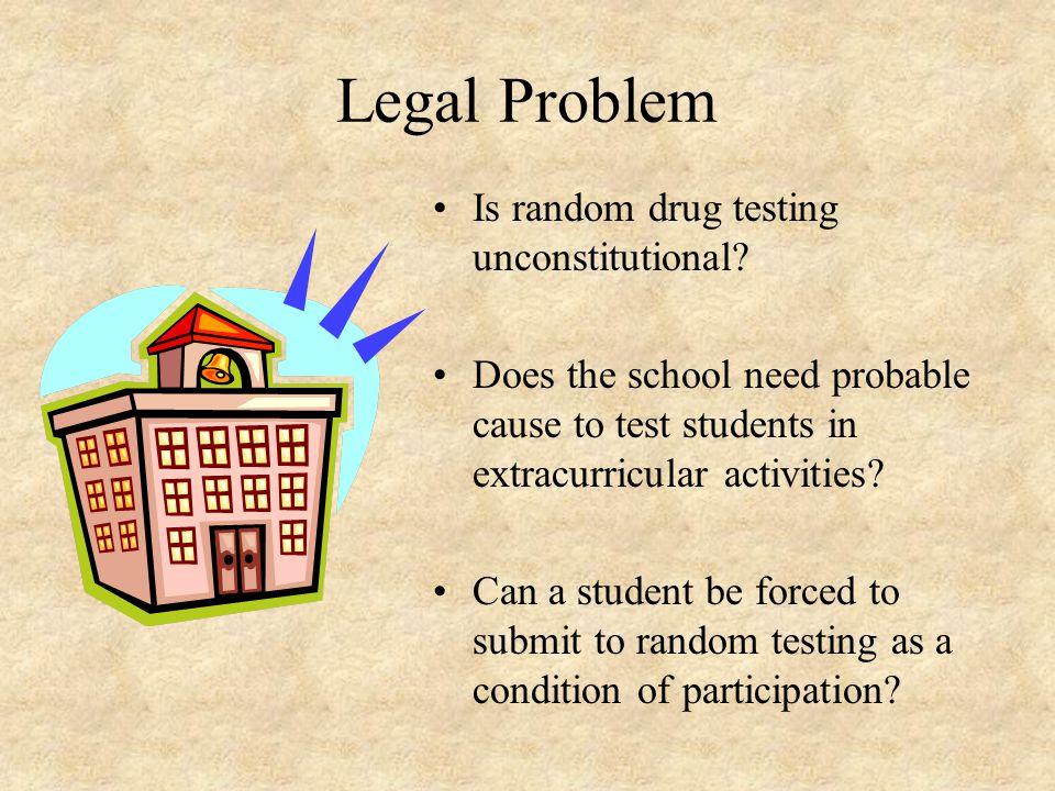 Legal Problem Is random drug testing unconstitutional