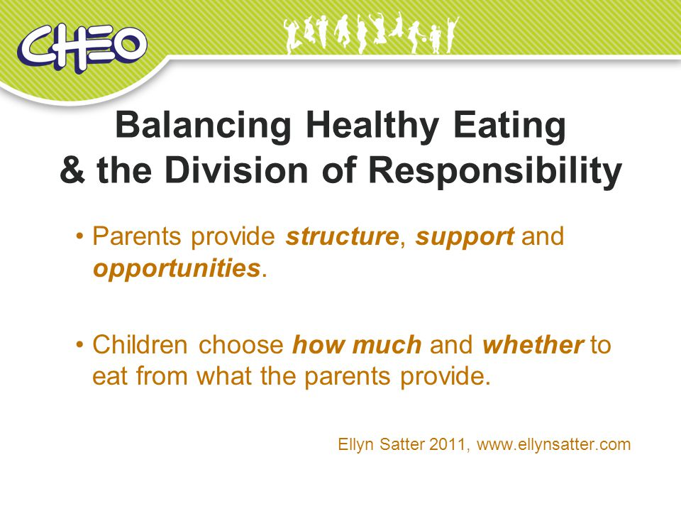 Balancing Healthy Eating & the Division of Responsibility